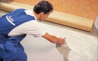 Каким клеем приклеить линолеум к бетонному полу