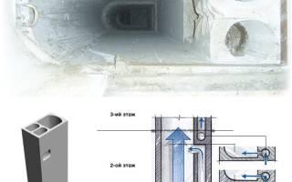 Восстановление воздуховода в квартире