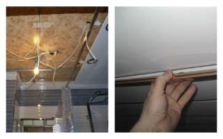 Как разобрать потолок из металлических панелей