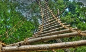 Как привязать веревочную лестницу к шведской стенке