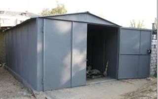 Чем покрасить железный гараж снаружи