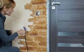 Как покрасить гипсовый камень на стене