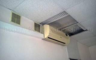 Минимальное расстояние между кондиционером и потолком