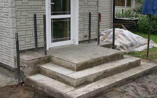 Чем отделать крыльцо из бетона