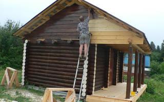 Как покрасить фронтон дома без лесов