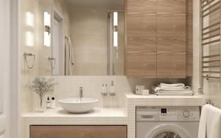 Чем накрыть стиральную машину в ванной