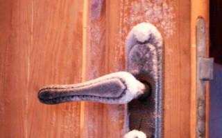 Утепление деревянной двери входной в сельском доме