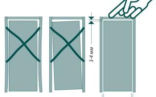 Как увеличить зазор между дверью и коробкой
