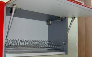 Как крепить амортизатор на кухонный шкаф