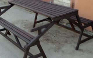 Лавка стол трансформер для дачи