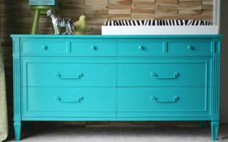 Как покрасить старую полированную мебель своими руками