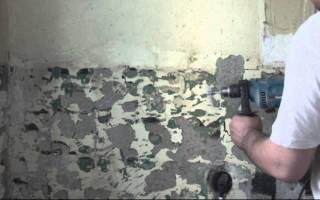 Как очистить стену от краски под плитку
