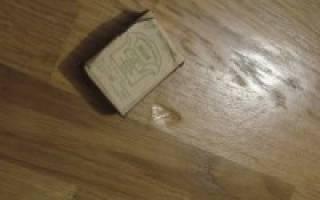 Как убрать вмятины на линолеуме от мебели