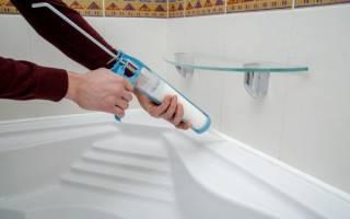 Как установить ванну чтобы не затекала вода