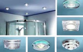 Какие точечные светильники лучше для ванной