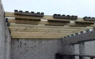 Устройство потолочного перекрытия в деревянном доме