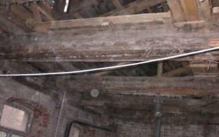 Замена потолочной балки в деревянном доме