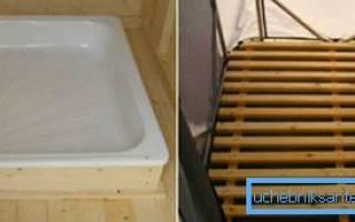 Как установить душевой поддон на деревянный пол