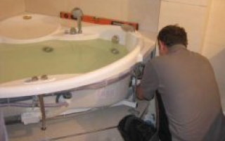 Подключение ванны к канализации своими руками