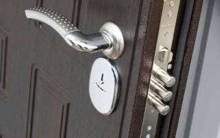 Как снять накладной замок с железной двери