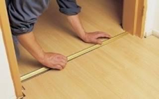 Как правильно установить порожек межкомнатной двери