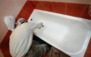 Чем закрасить скол на ванне железной