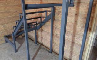 Металлическая лестница своими руками из профильной трубы