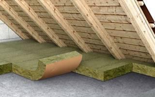 Теплоизоляция потолка дома со стороны чердака