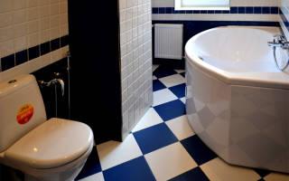 Порядок выкладывания плитки в ванной