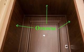 Отделка дверного проема входной двери плиткой