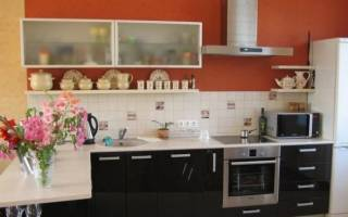 Высота полок на кухне над столешницей