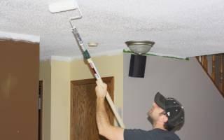 При покраске потолка отслаивается старая краска