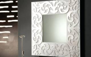 Как закрепить зеркало на стене без рамки
