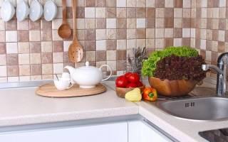 Кухонный фартук из линолеума