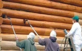 Повторная покраска деревянного дома снаружи