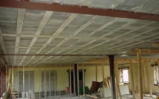 Использование двутавра в строительстве потолочного перекрытия
