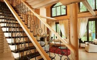 Лестница сварная комбинированная в доме
