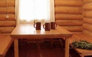 Как установить мебель в бане комната отдыха