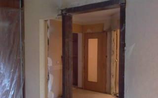Как перенести дверной проем в гипсовой стене