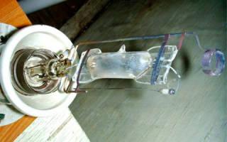 Как подключить лампу ДРЛ 250 без дросселя