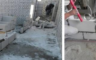 Как построить стену из пеноблоков в квартире