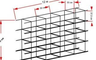 Расход арматуры на устройство каркасов стен