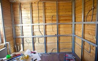 Отделка гипсокартоном деревянные стены как делать