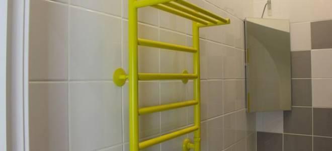Чем покрасить полотенцесушитель из нержавейки в ванной