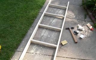 Как сделать переносную деревянную лестницу своими руками