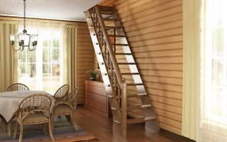 Малогабаритные лестницы на второй этаж для дачи