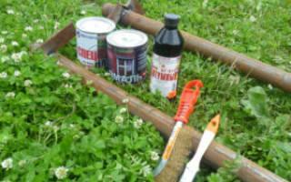 Как покрасить столб под березу