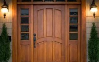Дверь деревянная входная уличная своими руками