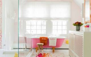 Акриловая ванна с рисунком внутри