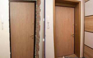 Обшивка дверного проема входной двери